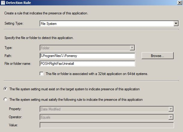 PowerShell Uninstall Automation - ConfigMgr App Detection Rule