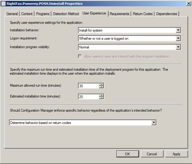PowerShell Uninstall Automation - ConfigMgr App User Experience