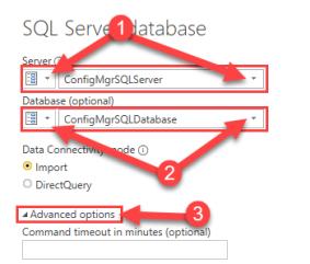 ConfigMgr SQL Parameters