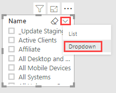 Slicer to Dropdown