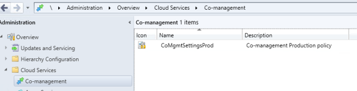 Co-Management Config Item in ConfigMgr Console